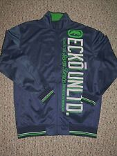 Marc ECKO Blue Green White BIG BLOCK Men's Track Jacket Large New!