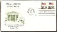 US SC# 1895 Flag- Court FDC. Coil,Pair,  Artmaster Cachet.