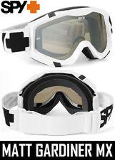 Spy Optics Klutch Motocross Mx Goggles Blanco Sabbath Plata Espejo Lente Enduro
