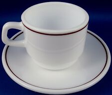 Retro ARCOPAL France Milk Glass ESPRESSO CUP & SAUCER Collectable - In Australia