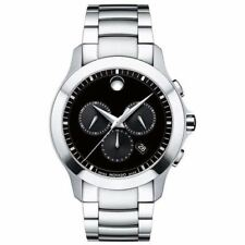 New Movado Masino Chronograph Black Dial Men's Watch 0606885