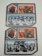 Lot of 2 Star Wars 3 Section Children's Kids Plastic Plates Chewbacca Trooper
