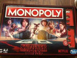 Hasbro Hasc45501020 Stranger Things Monopoly Board Game