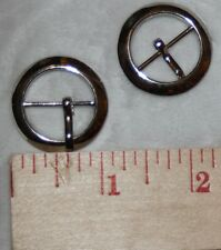 "4 for $1 round Silver metal Prong Slide BELT Buckle Buckles sewing 1"" 3/4"" g48"