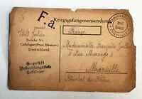 Lot of 2 - 1915 &  WW1, 2 Prisoner of War POSTCARD - c-664