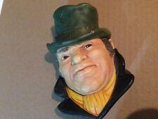 Bill Sykes Legends Chalkware Head Wall Mask Oliver Twist 1986 F Wright Free Ship