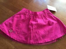 Nwt Oshkosh pink tulle skirt with emboidered flower size 18 months