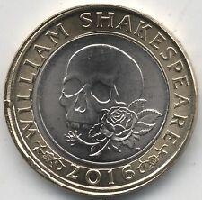 2016 William Shakespeare £2 Multiple Error Strike Coin Plain/Reeded Edge**Rare**