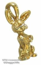 Bunny Rabbit Charm / Pendant Ep Gold Plated Jewelry with a Lifetime Guarantee!