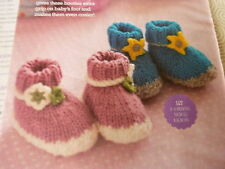 Knitting Pattern To Make D.K. Baby Boots For Girl or Boy- To Fit First Size