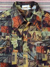 Vintage AMERICANA CAPRI by David Landman Long Sleeve Photo Print Shirt Large