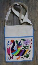 Otomi Handbag Shoulder Bag Hand Embroidered Duck Goose Swan Mexico Folk Art Boho