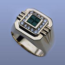 Emerald & Diamond Men's Ring