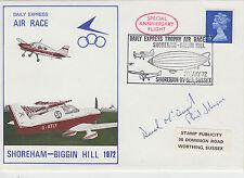 1972 GB DAILY EXPRESS AIR RACE shoreham-biggin HILL Coperchio con firme 2