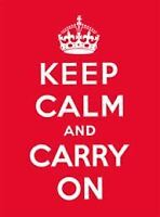 ., Keep Calm and Carry On, Like New, Hardcover