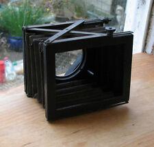 """genuine prewar Sinclair bellows lens hood shade adjustable 2"""" down"""