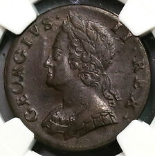 1747 NGC XF 45 George II 1/2 Penny GREAT BRITAIN Coin (16112405CZ)