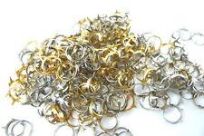 "New listing 25 Open Ring Rim Studs 3/8"" For Jewel Set Rhinestone Setting 10mm Silvertone"