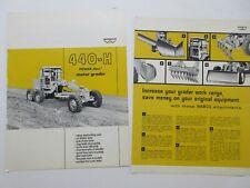 Rare Wabco 440 H Motor Grader Sales Brochure 1967
