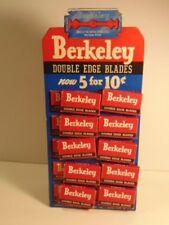 Vintage Berkley double edge razor blade display - 20 packs included