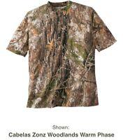 Cabela's Color Phase Short Sleeve T Shirt w/ 4MOST ADAPT Men's Large MSRP $29.99