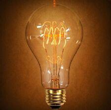 """2 Pack Vintage Style Edison E26 Globe Light Bulb Spiral 40w 2.75"""" diameter"""