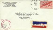 VICE ADMIRAL W.L.CALHOUN(envelope) WWII-Self Censor(W.L.C.) Airmail-Sc#
