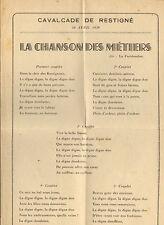 37 RESTIGNE CAVALCADE CHANSON  DES METIERS AVRIL 1939