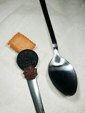 perles,fimo-bc146 2 breloques GRANDE CUILLÈRE en métal  métal argenté vieilli