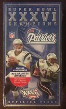 Super Bowl XXXVI Champions Patriots NFL Sealed Official Video (VHS Tape 2002)