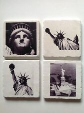 Marble Tile Coasters with Corked Backing NYC