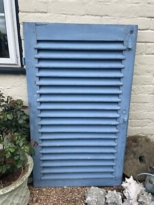 Vintage blue French shutter