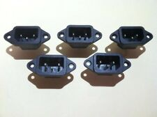 AC Power Jack 5pcs Computer Style Projects Panel Mount Single Phase 250v 10A Max