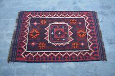 N1213 Vintage Afghan Decor Maimana Kilim Tribal Moroccan Kilim Rug 3' x 4'6