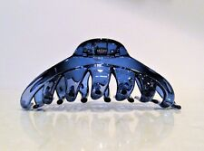 Extra large clear blue hair claw clip