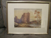 19th Century Hudson River School Watercolor Landscape