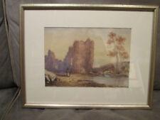19th Century Hudson River School Watercolor Landscape