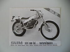 advertising Pubblicità 1978 MOTO SWM TL 125 TRIAL