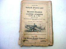 Massey Harris Combine & Disc Harrow Manuals Plus More