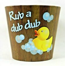 New Rub A Dub Dub Bath Time Baby Shower Gift Basket Supplies Tubs Containers
