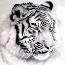 UK 5d DIY Diamond Painting Tiger Animal Cross Stitch Embroidery Home Decor Craft