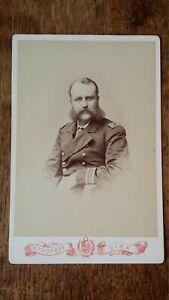1879 ANTIQUE CABINET CARD PHOTOGRAPH NAVAL OFFICER CAPTAIN E COURRET LIMA PERU