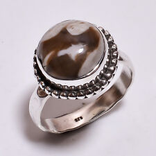 925 Sterling Silver Ring Size US 6, Natural Outback Jasper Women Jewelry R3909