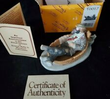 Porcelain Emmett Kelly Jr.: Saturday Night Figurine #10017 w/ Certificate