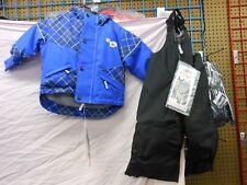 Choko NOS Youth BLUE PLAID Size 5 Snowmobile Jacket and bib pants