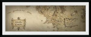 Lord Of The Rings Map Ready Framed Print