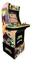 Arcade 1up TMNT Ninja Turtles Cabinet Arcade1up Machine 4 Player Game 2 Games