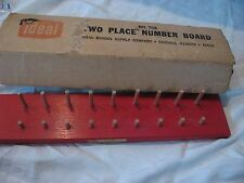 Vintage IDEAL School Supply Co Wooden two place number board No.758