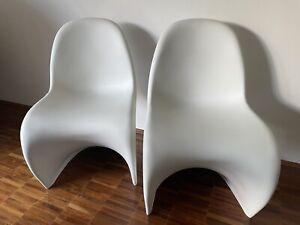 💥 6 Original VITRA Panton Chair (6 Stück !!!) - weiß - neuwertiger Zustand -TOP