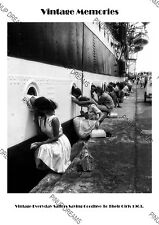 Vintage Image of Sailors Saying Goodbye to their Girls in 1963 Poster Print